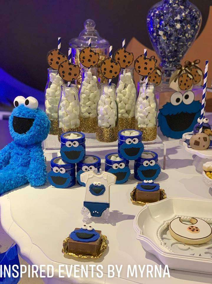 Cookie Monster Baby Shower Party Ideas Photo 1 Of 21 Catch My Party