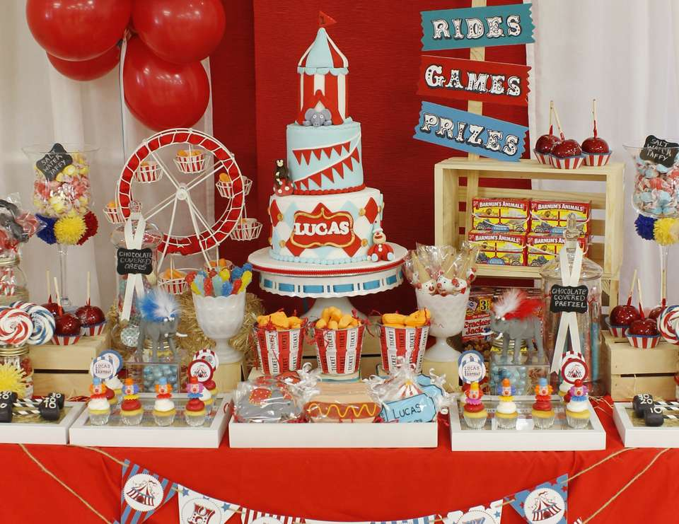 vintage carnival 1st birthday party