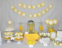 "Modern / Baby Shower ""Yellow and Gray Geometric Baby"