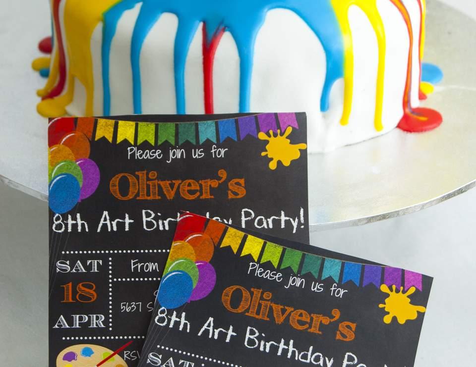 art themed birthday party birthday