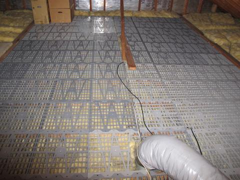 home depot kitchen layout two tier island attic dek 16 in. x on-center flooring panels ...
