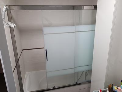 pare baignoire integral chrome h 150 x l 170 cm elyt