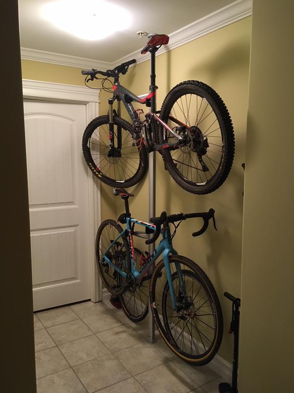 feedback sports velo column 2 bike storage rack