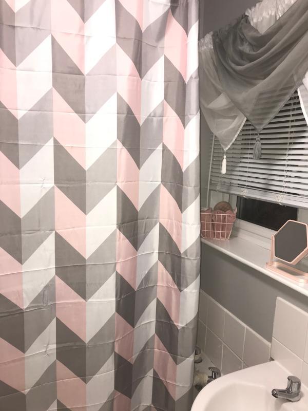 wilko treasured chevron shower curtain