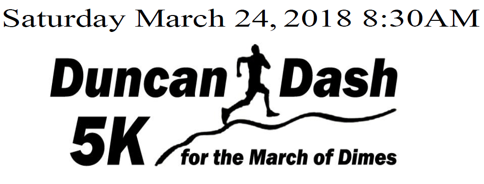 2nd ANNUAL DUNCAN DASH 5K FOR THE MARCH OF DIMES
