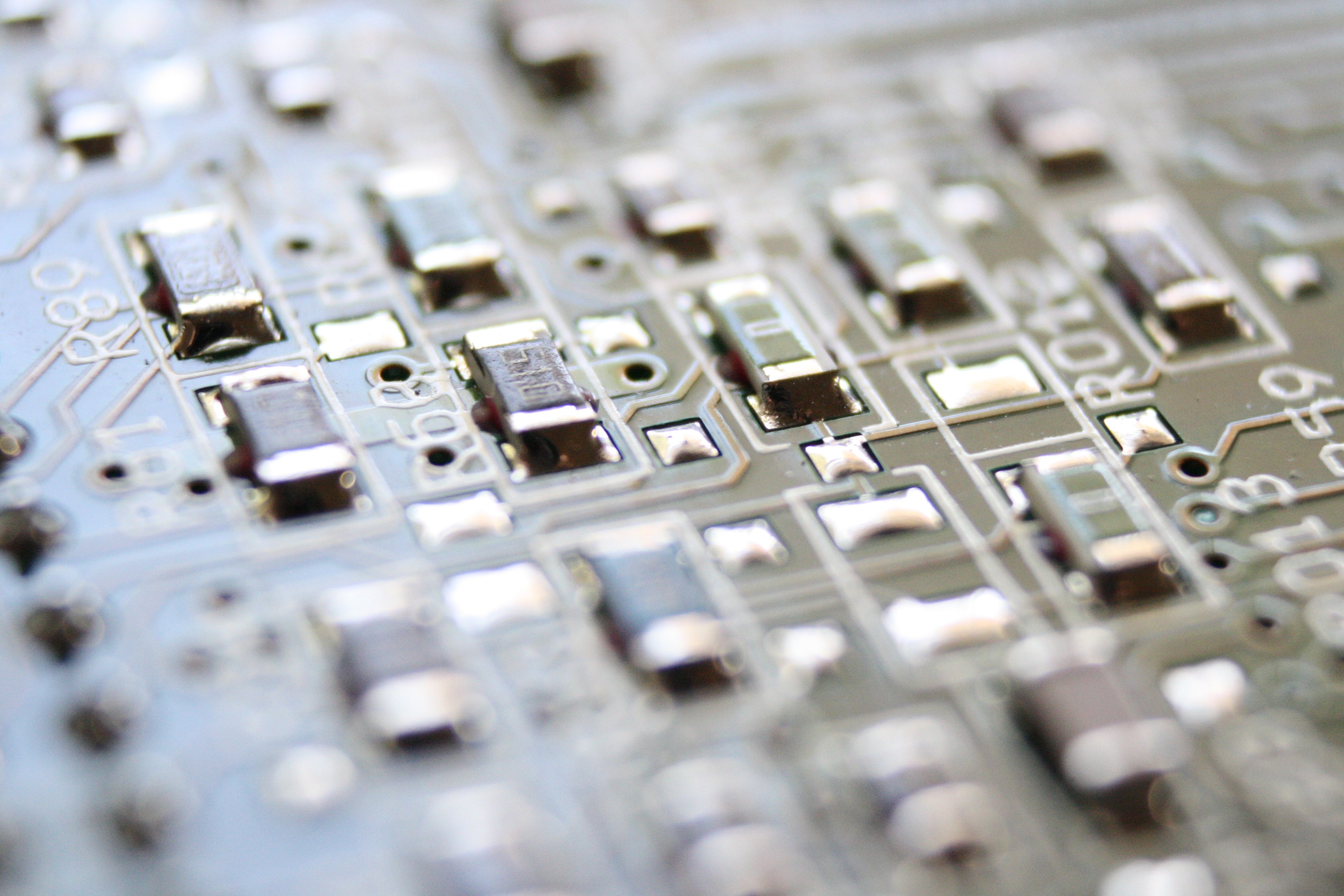 Integrated Circuit Board Macro Picture
