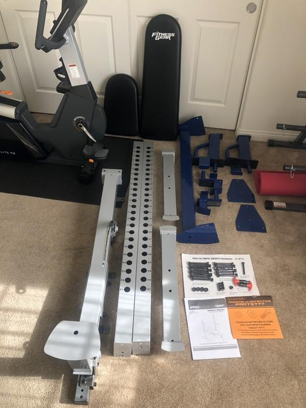 Fitness Gear Bench : fitness, bench, Fitness, Olympic, Weight, Bench, Curbside, DICK'S