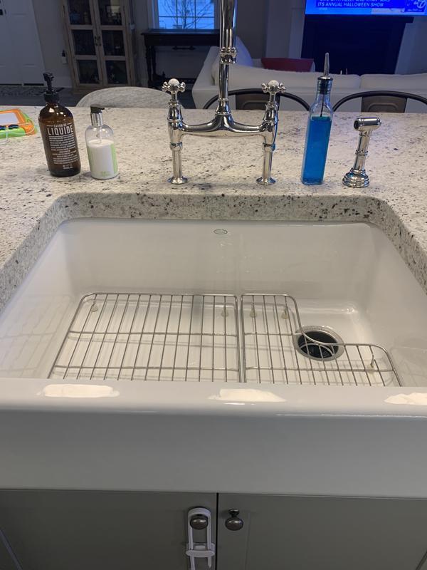 whitehaven sink rack for left bowl of the k 3844 k 3846