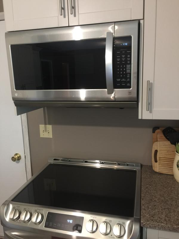 over the range microwave 2 cu ft 400 cfm stainless steel