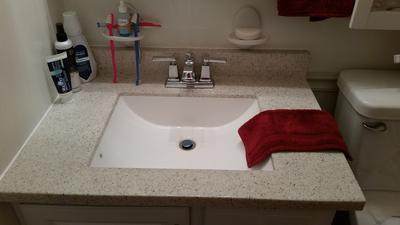 boardwalk spot resist brushed nickel two handle low arc bathroom faucet