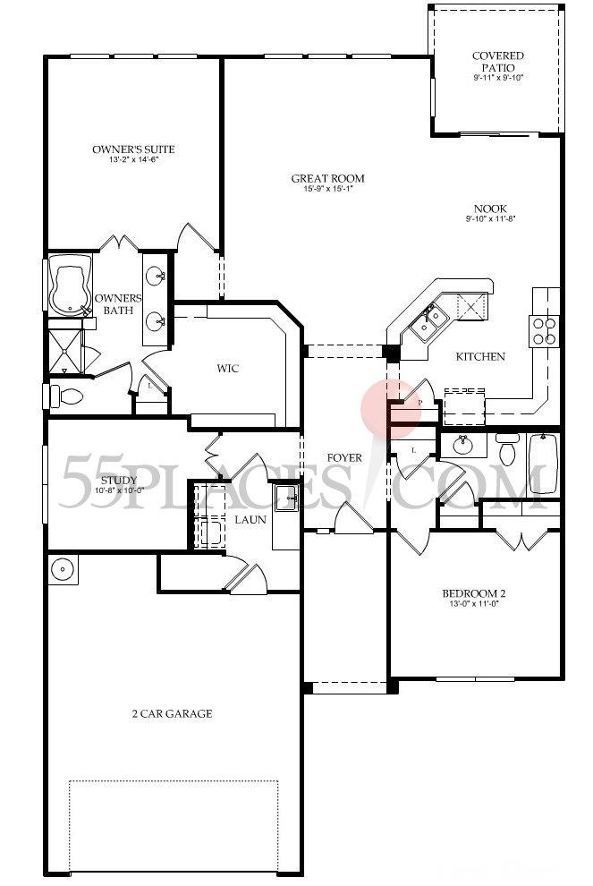Copper Ridge Floorplan  1703 Sq Ft  Frisco Lakes  55placescom