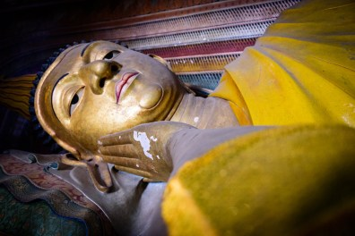 Buddah Statue im Wewrukannala Buduraja Mahaviharaya