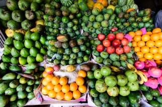 Fruchtsortiment auf dem Markt von Kandy