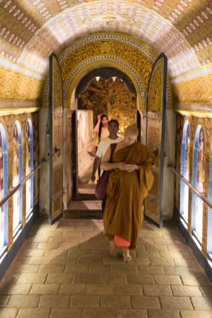 Besucher im Zahntempel