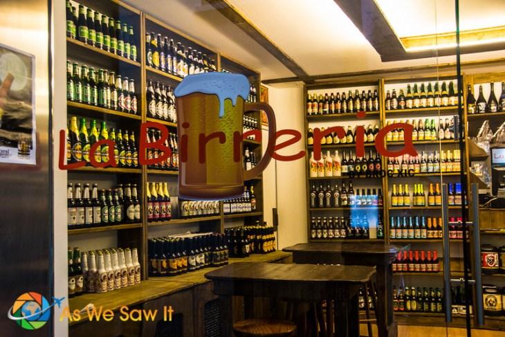 La Birreria Andorra is a cerveceria, a place devoted to serving beer.