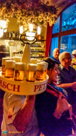 This is how they serve beers in Cologne, Germany