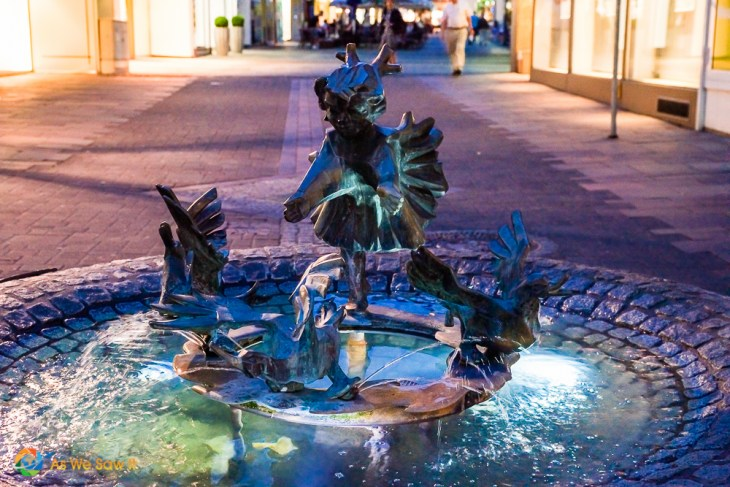 Whimsical fountain in Koblenz