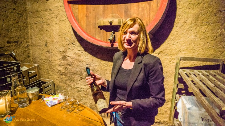 Hostess at Richard Richter Winery explains what makes their wine special.