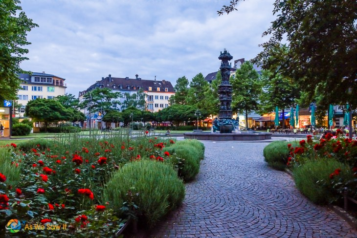 Koblenz city square at twilight