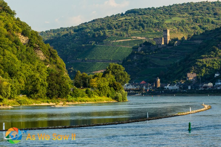 40 castles overlook the Upper Middle Rhine valley, a UNESCO site