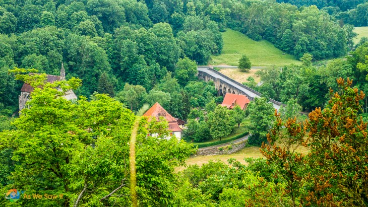 View of the countryside near Rothenburg