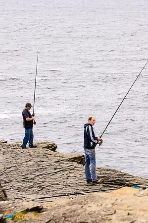 Irish cliff fishing