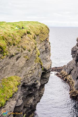 Anglers at Irish cliffs