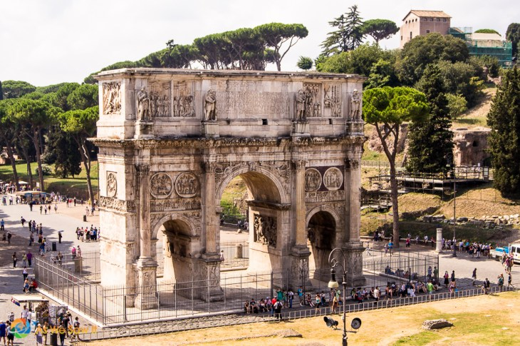 The Arch of Constantine, as seen from the Colosseum