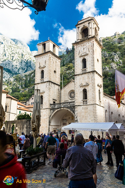 This is the Cathedral of Saint Tryphon, Kotor's most impressive building. This Catholic cathedral dates from the 12th century.