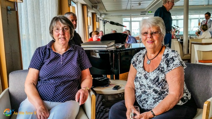 Two wonderful English ladies we met on our cruise, Pam and Fiona