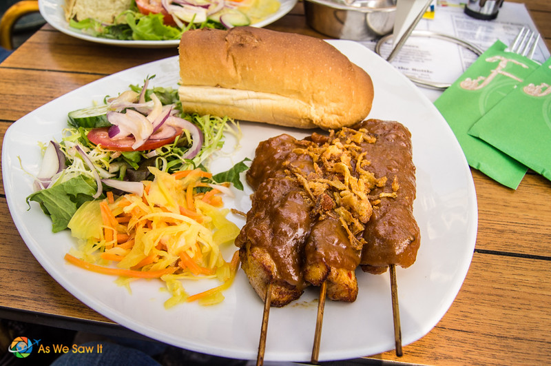 Amsterdam in One Day: Eat Indonesian Food Chicken Satay Dutch Style