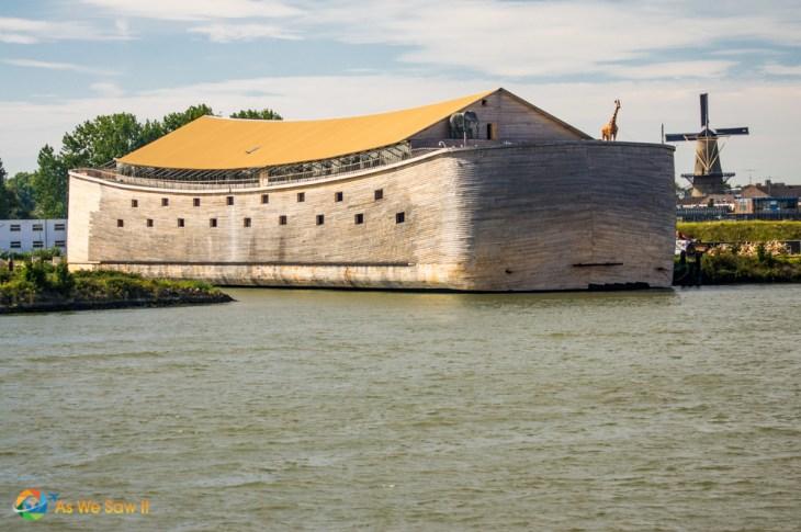 Noah's ark has been rebuilt to scale in the Netherlands.