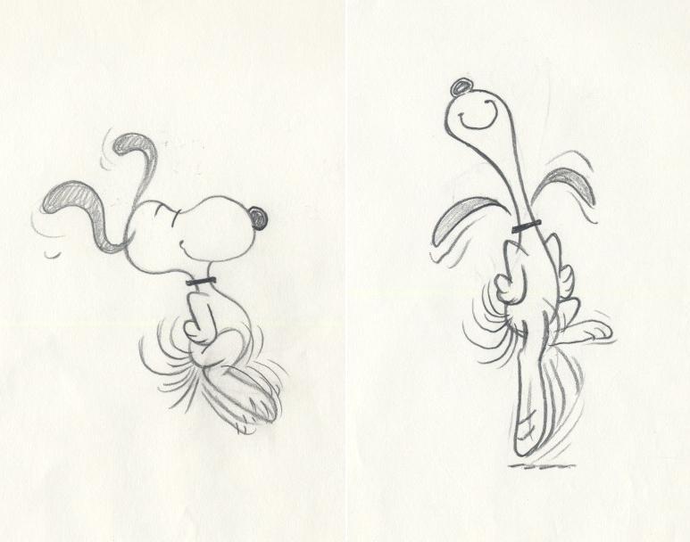 auction.howardlowery.com: 2 Schulz PEANUTS Animation