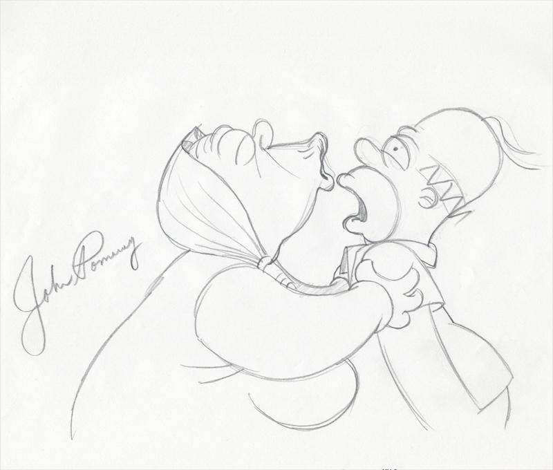 auction.howardlowery.com: THE SIMPSONS MOVIE Animation