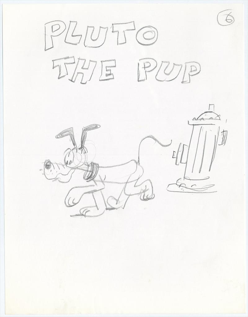 auction.howardlowery.com: 6 Drawings of Disney's MICKEY