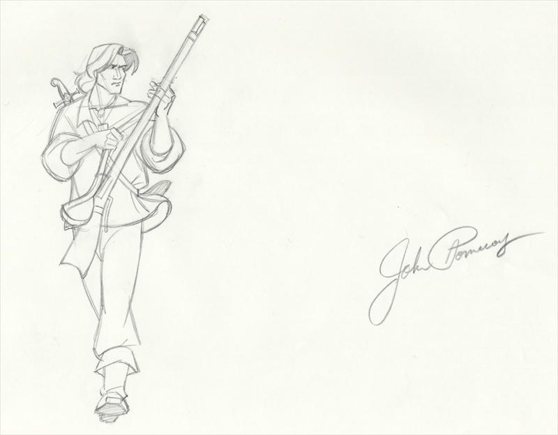 auction.howardlowery.com: Disney POCAHONTAS Animation