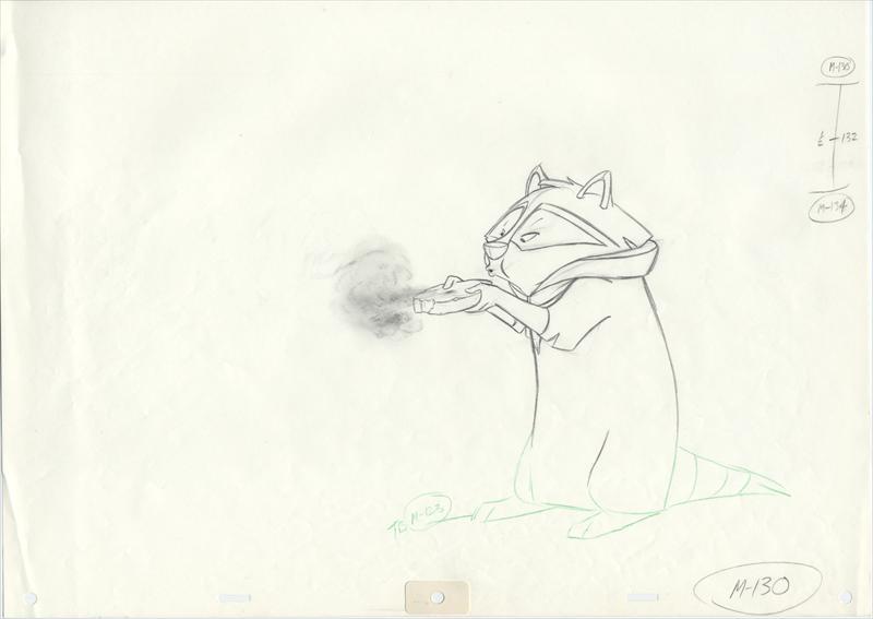 auction.howardlowery.com: Disney POCAHONTAS Animator's