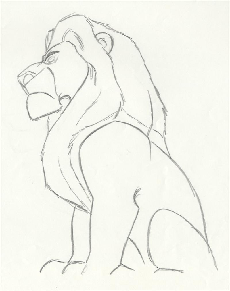 auction.howardlowery.com: Disney THE LION KING Animation