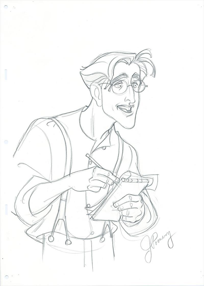 auction.howardlowery.com: Disney ATLANTIS Animation
