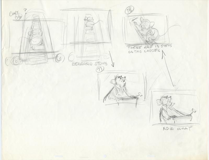 auction.howardlowery.com: Disney THE RESCUERS Scene