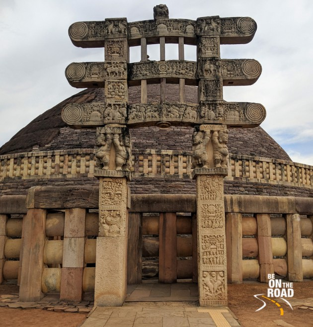 The ancient Sanchi Stupa of India