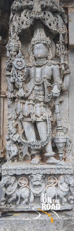 Large sculpture at the entrance to the ranga mantapa at Lakshmi Devi temple, Doddagaddavalli