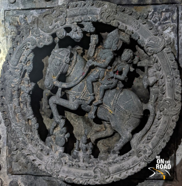 Kubera and Rambha in the north direction on the ceiling of Lakshmi Devi Temple, Doddagaddavalli
