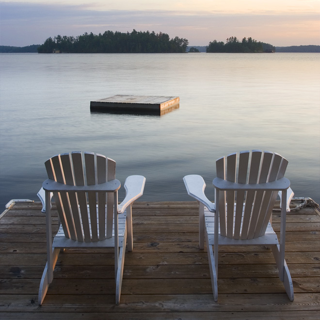 Muskoka Chairs on Lake Rosseau  BOMBIPPY PHOTOS