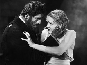 Boris Karloff and Gloria Stuart in James Whales black-comedy horror film