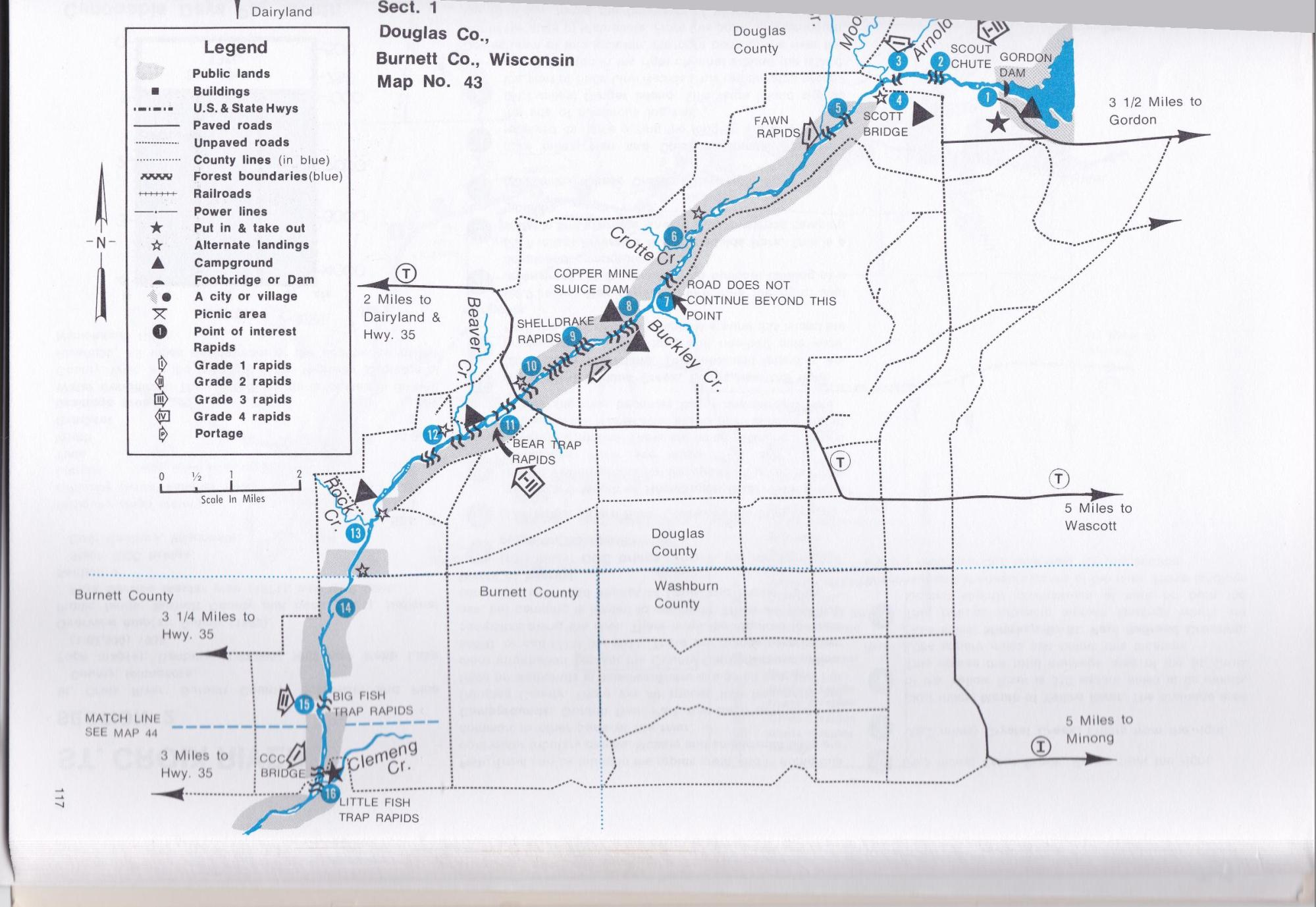 hight resolution of alternative to avoid most of the technical rapids would be to put in at the trego dam on the namekagon
