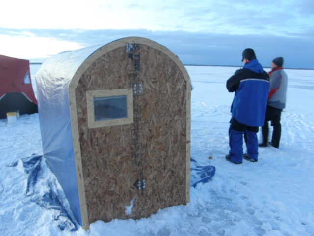 ice fishing chair shelter lyndsey linens and covers bwca homemade portable collapsible hut boundary waters forum