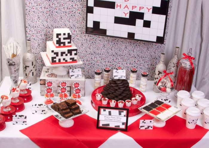 Crossword Puzzle MILESTONE BIRTHDAY Party Ideas Photo 13