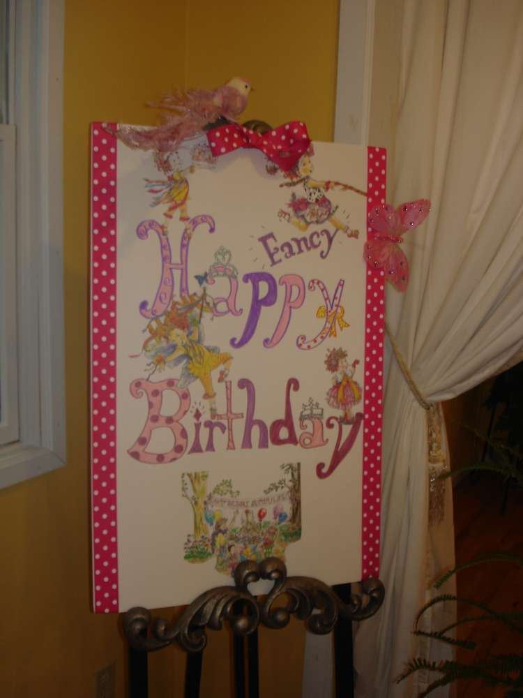 Based On The Fancy Nancy Books Birthday Party Ideas
