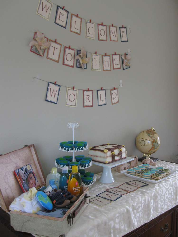 Welcome to the World Baby Shower Party Ideas  Photo 5 of